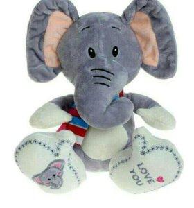 Мягкая игрушка «Слон с шарфом»