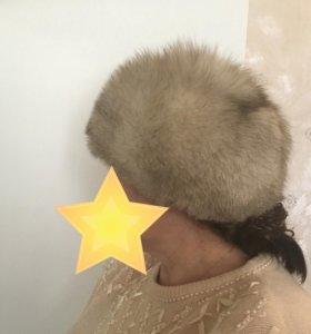 Шапка  женская из натурального меха - песца