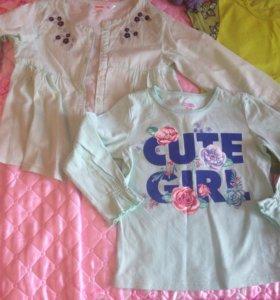 Блузы для девочки 2-4 года