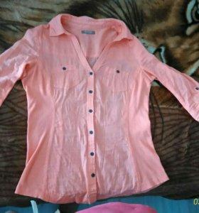 Рубашка цвет персик