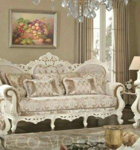 Царский диван с двумя креслами