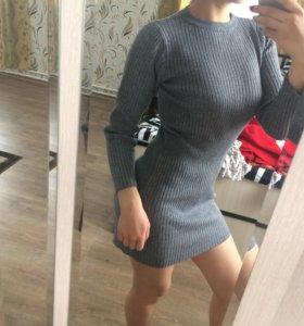 Тёплое платье-свитер