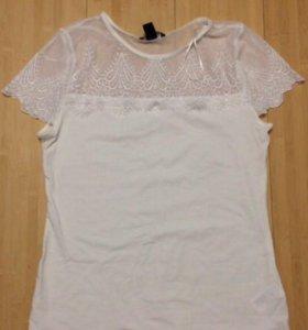 Белая женская блуза