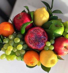 Красивые букеты из фруктов