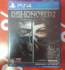 PS4. Dishonored 2 Limited Edition
