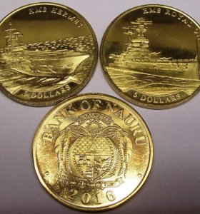 Набор монет Науру (Корабли) 2016