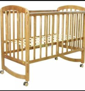 Детская кроватка и ортопедический матрац Plitex