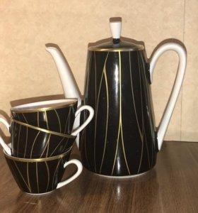 Кофейник и три чашки (сервиз) кахла kahla