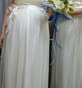 Срочно!! Свадебное/вечернее платье для беременных