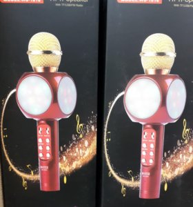 Караоке микрофон с подсветкой