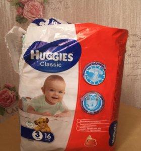 Подгузники Huggies Classic 3ка