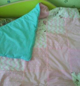 Плед-одеяло лоскутное