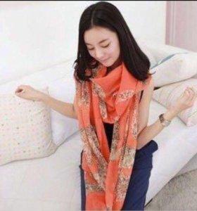 Новый рыжий шарф палантин платок шаль
