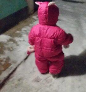Детский зимний комбинезон-трансформер+подарок