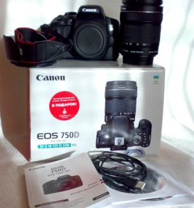Canon EOS 750D kit EF-S 18-135 IS STM (РСТ)