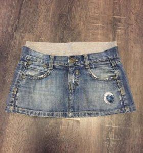 Мини-юбка джинсовая Bershka
