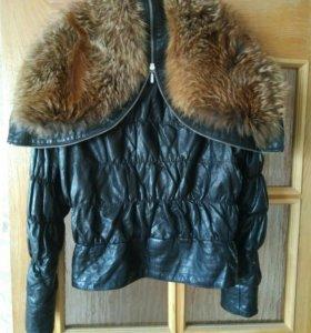 Куртка утепленная кожанная