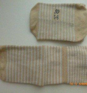 носки хлопковые с двуслойным отворотом