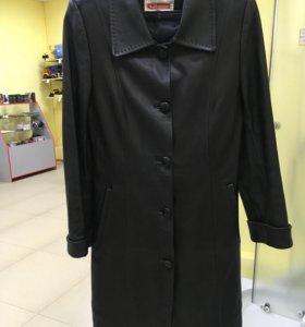 Куртка удлинённая, сюртук натуральная кожа