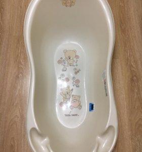 Детская ванночка с горкой+стульчик