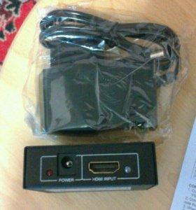 HDMI делитель(сплитер) на 2 отвода