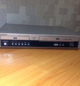 Видеомагнитофон + DVD - плеер Samsung