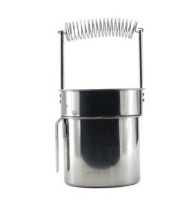 Подставка-мойка для кистей из нержавеющей стали.