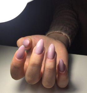 Наращивание ногтей,маникюр с покрытием гель лак