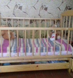 Манеж кроватка детская маятник