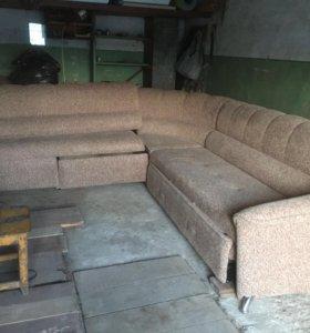 Диван угловой, раскладной, 280х280, с креслом