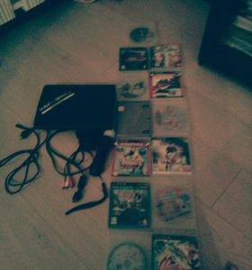 PS3 Super Slim + Ps камера + Ps move+ 13 игр
