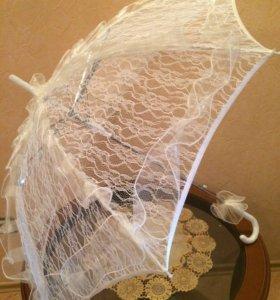 Свадебный кружевной зонт