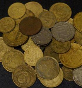 Набор более 40 монет 1924-1957 без повторов