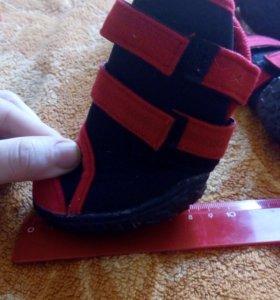 Зимние ботинки собакам