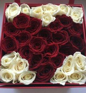коробки с живыми цветами,свитбоксы,букеты,..