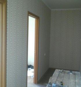 Выравнивание стен,шпаклевка,обои,покраска