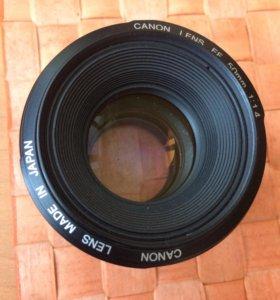 Canon lens ef 50mm 1 1.4