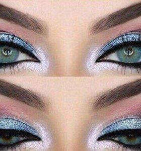 Голубые новые Линзы специально для темных глаз