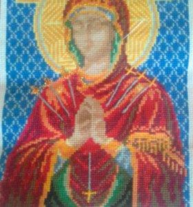 Вышивка крестом ручной работы