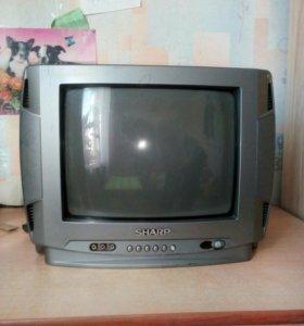 Телевизор SHARP рабочий,на 220 вольт, пульта нет