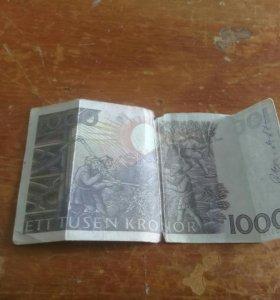 1000 швецких крон