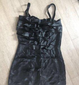 Платье кожа