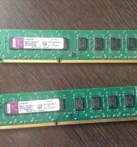 Оперативная память Kingston KVR1333D3N9/2G 2шт.