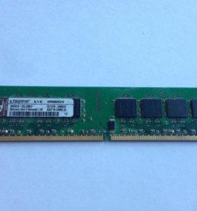 Оперативная память Kingston 1GB DDR2 800мгц