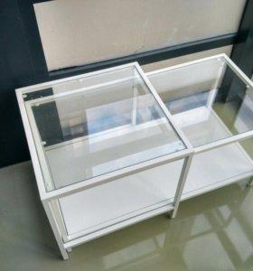 Стеклянный журнальный стол Икея