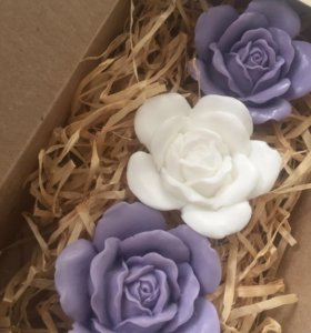3 розы. Мыло ручной работы. Подарок.