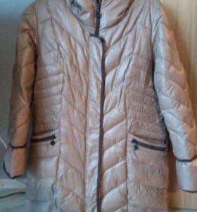 Пальто пуховик зимний 52 р-р