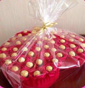Подарок на 8 Марта/день рождения, сердце из конфет