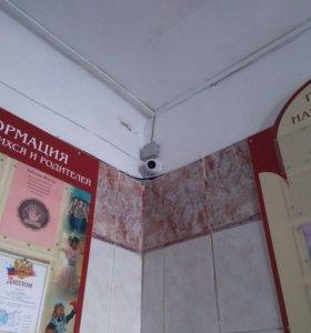 Установка Видеонаблюдения в Школе!!!
