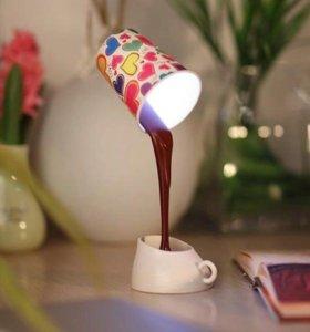 Лампа настольная «кофе»